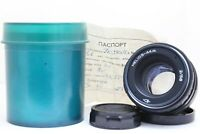 Helios 44M Portrait Lens f2/58 M42 thread mount Mint with storage can