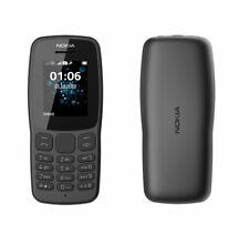 Brand New Nokia 106 - Dual Sim - Black (Unlocked) Basic Mobile Phone