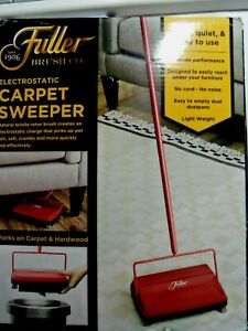 "Fuller Brush 17052 Electrostatic Carpet & Floor Sweeper 9"" Cleaning Path Red NEW"