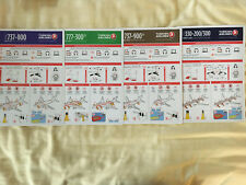 TURKISH Airlines (4) New Safety Cards Airbus A-330, B737-800, B737-900, B777-300