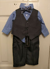 Andrew Fezza Baby Boy Size 6/9 Months - Button Shirt, Dress Pants, Vest, Bow Tie