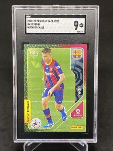 2020-21 Panini Megacracks #430 Pedri FC Barcelona RC Rookie SGC 9 Mint