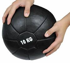 Medicine Ball 10kg Heavy Duty Genuine Cow Hide Leather Hand Stitched Traditional