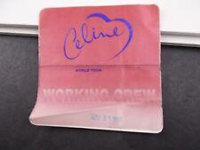 * Celine Dion- 1998 Concert Tour Backstage pass vintage