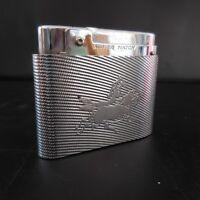 Feuerzeug Rechts Gas Art-Deco SILVER MATCH Patent Compound