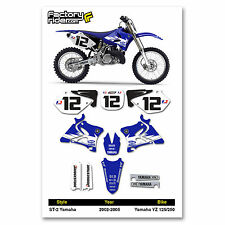 2002-2005 YAMAHA YZ 125 250 GYTR Graphics Kit Motocross Decals Enjoy