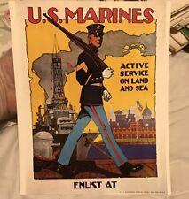 Small 8x10 1974 Vietnam Wwi Print Marine Corps Recruiting Poster Gov Print