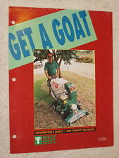 1980s BILLY GOAT VQ801 OUTDOOR VACUUM CLEANER SPEC SHEET BROCHURE