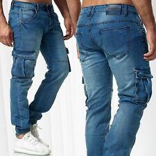 Heren klassieke cargo broek chino jogger vintage tassen jeans Black X Jaylvis