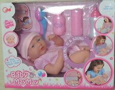 MAYMAY BABY WHITE DOLL TOY WITH BABY WITH ACCESSORIES XMAS GIRLS GIFT