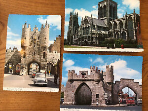 Selection Of City Of York Uk Vintage Photo Postcard  Blank Unused York Minster