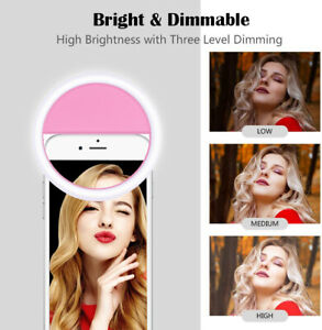 USB LED Ringlicht Ringleuchte Fotolicht Studiolicht Lampe Selfie Handy 28 LED's
