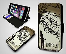 To Kill a Mockingbird Novel Harper Lee Book Leather Wallet Flip Phone Case Cover