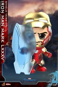 MK85 Iron Man Shield Ver. Hot Toys COSBABY Avengers Endgame Cute Figures Toy