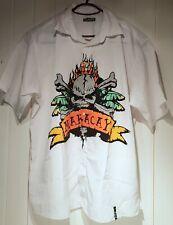 Maracay Men's White Shirt Skull Print Size XXL Top