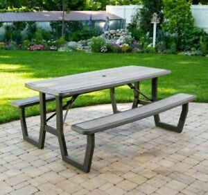 Lifetime 6ft 1.82m Folding Foldable Picnic Table Up to 8 persons SHEFFIELD