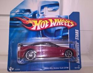Hot Wheels AMG Mercedes CLK DTM Number 101 Dated 2007 Mint on Card