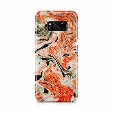 Multicoloured Marble Mixed Paint Splash Orange Stone Smooth Phone Case Cover
