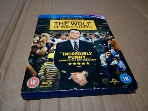 The Wolf of Wall Street Blu-ray, Leonardo DiCaprio, Scorsese with slipcover