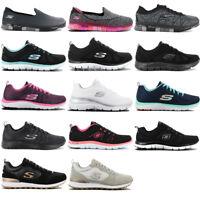 Skechers Damen Sneaker Memory Foam Schuhe Slipper Freizeit Turnschuhe NEU SALE