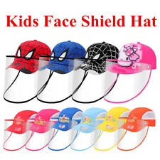 For Kids Protective Face Shield Hat Safety Cover Hat Anti Spitting Baseball Cap