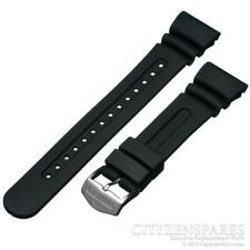 Citizen Watch Band Eco-Drive Aqualand JV0027-05E JV0030-01E Black Rubber Strap