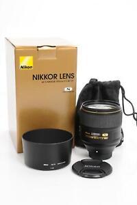 Nikon Nikkor AF-S 105mm f1.4 E ED Lens #558