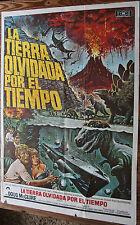 Used  Cartel de Cine  LA TIERRA OLVIDADA POR EL TIEMPO Vintage Movie Film Poster