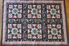 """Quilt 42.5"""" x 60"""" Rose Colors L#1293"""
