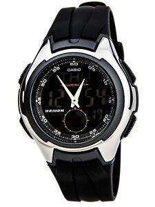 Casio AQ160W-1B Analog Digital Alarm Watch