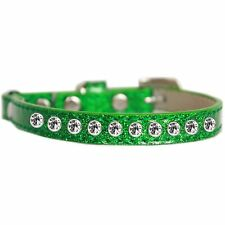 Mirage Pet Products Clear Jewel Ice Cream Cat safety collar Emerald Green Siz.