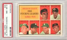 Chuck Estrada Jim Perry Bud Daley 1961 Topps Pitching Leaders #48 PSA NM-MT 8
