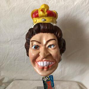 Vintage 80s 1983 Cesar Queen Elizabeth Mask Dead Stock Halloween DS VTG NWT
