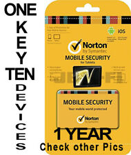 Norton Mobile Security for 10 Multiple iOS & Android Devices 1 Year Global
