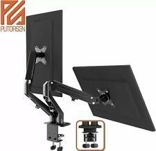 PUTORSEN Dual Monitor Desk Mount/stand with C Clamp and Grommet Mounting Base