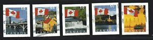 2005 Canada SC# 2135-2139-Flag-Booklet Stamps-Lot CU336-Used