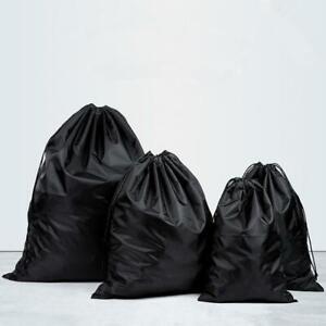 Black Waterproof Drawstring Bag Sports Gym Sack Swim PE Kit Shoe Sports Bag US