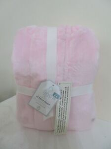 POTTERY BARN CLASSIC COZY FLEECE PINK ROBE STAIN AS IS SIZE 4-6