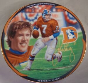 John Elway The Drive to Victory Collector Plate