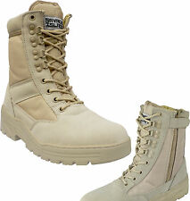 Desert Army Side Zip Combat Patrol Boots Tactical Cadet Military Tan Jungle 908