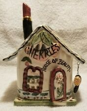 Blue Sky Clayworks Cherries House of Beauty Tealight Holder Complete