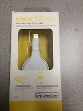 New SCOSCHE StrikeLine Pro Retractable iPhone Lightning USB Cable White