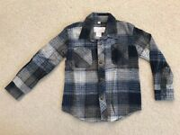 Boys Kids Flannel Plaid Button Down Long Sleeves Shirt Size 4 5 6 7 (2 Colors)