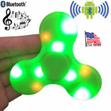 Bluetooth Speaker LED Lights Fidget Spinner Stress relieve AUTISM Color: GREEN