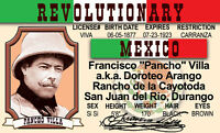 Pancho Villa Mexican Revolutionary of Mexico plastic ID card Drivers License