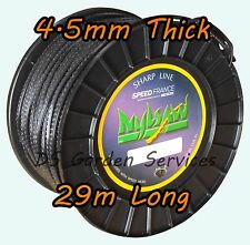 NYLSAW 4.5mm x 29m Roll SPIKY Line SERRATED SHARP STRIMMER TRIMMER WIRE CORD