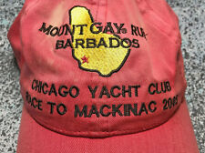 Nicely Worn 2005 Mount Gay Rum Sailing Hat Chicago Yacht Club - Race to Mackinac