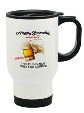happy beer day Thermal Travel Mug Flask Coffee Tea Mug 178
