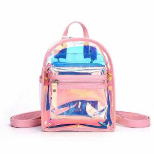 Girl Fashion Bags Handbag Mini Clear Transparent Backpack Satchel Laser Shoulder
