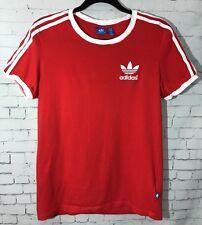 902307c0f Adidas Trefoil Red White Stripes Size XS Short Sleeve Tshirt Top Blue Tag